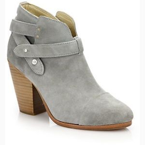{Rag & Bone} Harrow Suede Booties Grey Gray